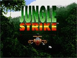 Title screen of Jungle Strike on the Sega Genesis.