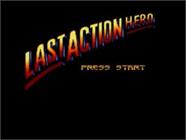 Title screen of Last Action Hero on the Sega Genesis.