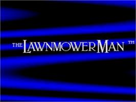 Title screen of Lawnmower Man, The on the Sega Genesis.