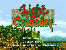 Title screen of Light Crusader on the Sega Genesis.