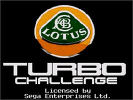 Title screen of Lotus Turbo Challenge 2 on the Sega Genesis.