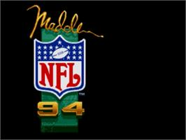 Title screen of Madden NFL '94 on the Sega Genesis.