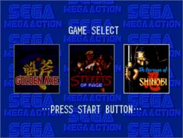Title screen of Mega Games 2 on the Sega Genesis.