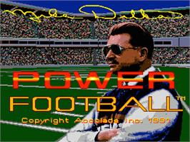 Title screen of Mike Ditka Power Football on the Sega Genesis.