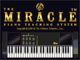Title screen of Miracle Piano Teaching System on the Sega Genesis.