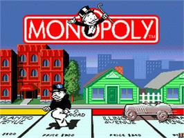 Title screen of Monopoly on the Sega Genesis.