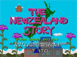 Title screen of New Zealand Story, The on the Sega Genesis.