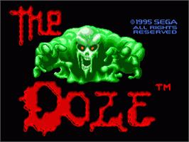 Title screen of Ooze, The on the Sega Genesis.