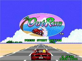 Title screen of Out Run on the Sega Genesis.