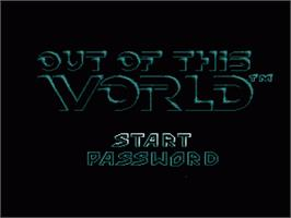 Title screen of Out of This World on the Sega Genesis.