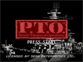 Title screen of P.T.O.: Pacific Theater of Operations on the Sega Genesis.