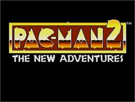 Title screen of Pac-Man 2: The New Adventures on the Sega Genesis.