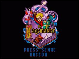 Title screen of Pagemaster, The on the Sega Genesis.
