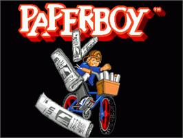 Title screen of Paperboy on the Sega Genesis.