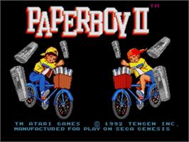 Title screen of Paperboy 2 on the Sega Genesis.