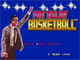 Title screen of Pat Riley Basketball on the Sega Genesis.