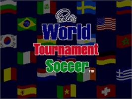 Title screen of Pelé II: World Tournament Soccer on the Sega Genesis.