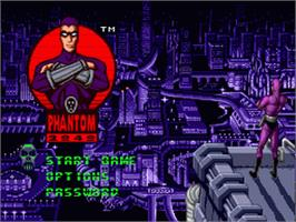 Title screen of Phantom 2040 on the Sega Genesis.