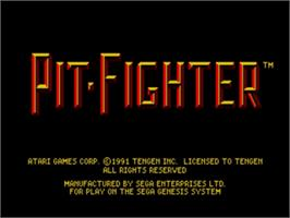 Title screen of Pit Fighter on the Sega Genesis.