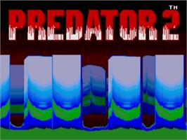 Title screen of Predator 2 on the Sega Genesis.