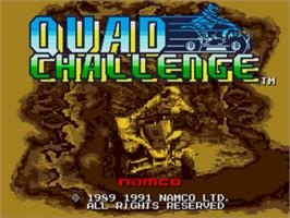 Title screen of Quad Challenge on the Sega Genesis.