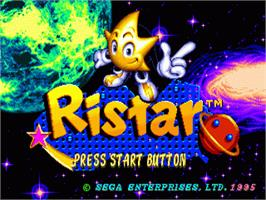 Title screen of Ristar on the Sega Genesis.