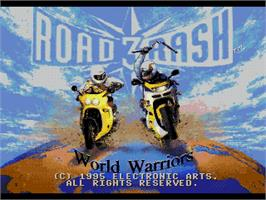 Title screen of Road Rash 3: Tour De Force on the Sega Genesis.