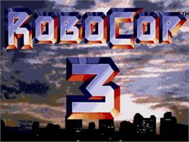 Title screen of Robocop 3 on the Sega Genesis.