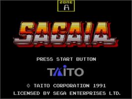 Title screen of Sagaia on the Sega Genesis.