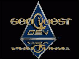 Title screen of SeaQuest DSV on the Sega Genesis.