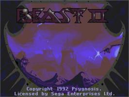 Title screen of Shadow of the Beast 2 on the Sega Genesis.