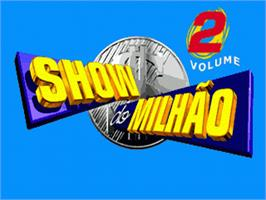 Title screen of Show do Milhão Volume 2 on the Sega Genesis.