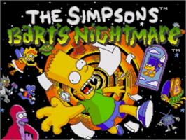 Title screen of Simpsons, The: Bart's Nightmare on the Sega Genesis.