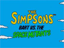 Title screen of Simpsons, The: Bart vs. the Space Mutants on the Sega Genesis.
