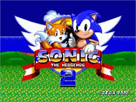 Title screen of Sonic The Hedgehog 2 on the Sega Genesis.