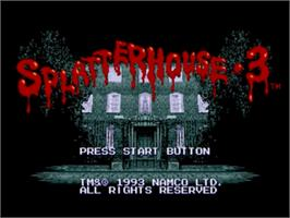 Title screen of Splatter House 3 on the Sega Genesis.