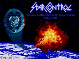 Title screen of Star Control on the Sega Genesis.