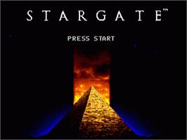 Title screen of Stargate on the Sega Genesis.