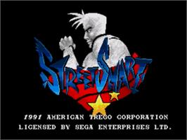 Title screen of Street Smart on the Sega Genesis.