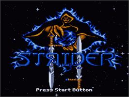 Title screen of Strider 2 on the Sega Genesis.