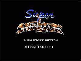 Title screen of Super Hydlide on the Sega Genesis.