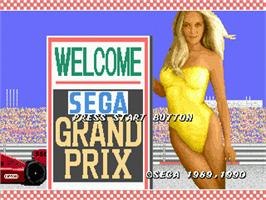 Title screen of Super Monaco GP on the Sega Genesis.