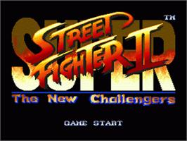 Title screen of Super Street Fighter II - The New Challengers on the Sega Genesis.