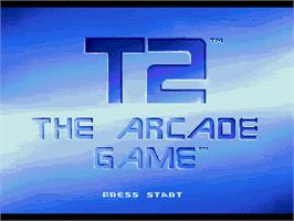 Title screen of T2 - The Arcade Game on the Sega Genesis.