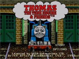 Title screen of Thomas the Tank Engine & Friends on the Sega Genesis.