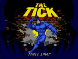Title screen of Tick, The on the Sega Genesis.