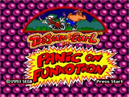 Title screen of ToeJam & Earl in Panic on Funkotron on the Sega Genesis.