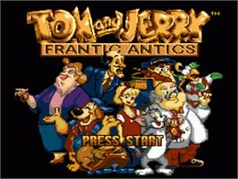 Title screen of Tom and Jerry - Frantic Antics on the Sega Genesis.