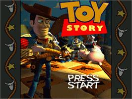 Title screen of Toy Story on the Sega Genesis.