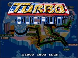 Title screen of Turbo Out Run on the Sega Genesis.